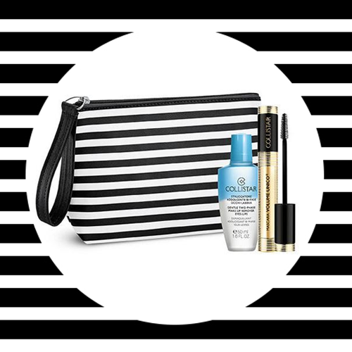 Volume Unico zestaw Mascara Black 13ml + Struccatore Addolcente Bi Fase + Cosmetic Bag